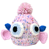 Crocheted Knit Cap Monster Hat with POM POM for Kids & Adults