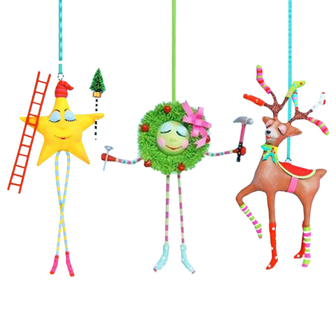 Christmas Tree Holiday Characters Glitterville Ornaments