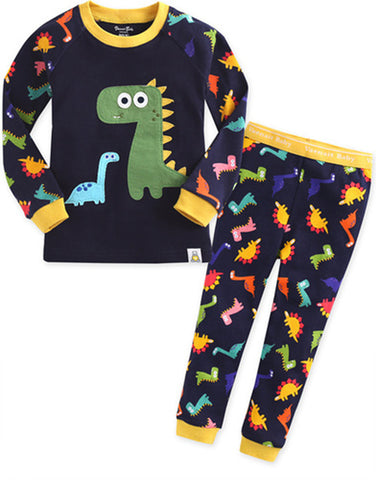 Children's Cotton Pajamas Dinosaur PJs Dino Jammies Set