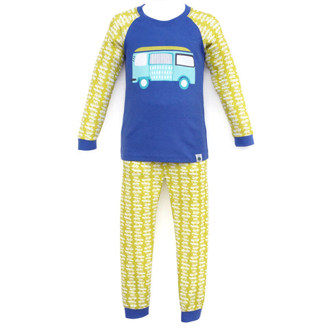 Children's Cotton Pajamas Beach Bus PJs Jammies Set