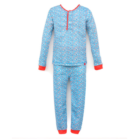 Pajamas, Children's PJs Cotton Jammies Set – Flowers
