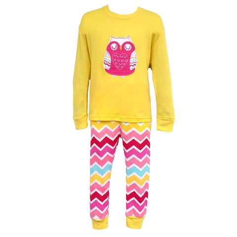 Children's Cotton Pajamas Owl PJs Jammies Set