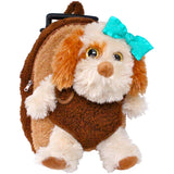 Roller Bag Kids Rolling Backpack Luggage with Removable Plush Stuffed Animal Dog