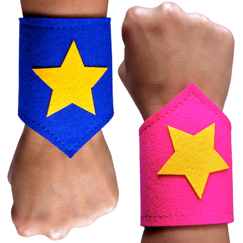 Kids Felt Superhero Wrist Cuffs for Children
