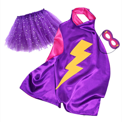 Purple Superhero Capes with Tutu