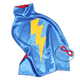 Kids Superhero Cape Double Sided Super Hero Capes for Boys Blue Green