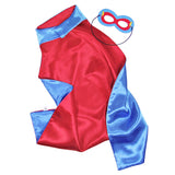 Kids Superhero Cape Double Sided Super Hero Capes for Boys Blue Red