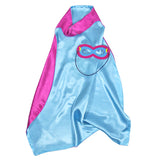 Kids Superhero Cape Double Sided Super Hero Capes for Girls Pink Blue
