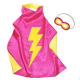 Kids Superhero Cape Double Sided Super Hero Capes for Girls Purple Pink