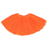 Girls Sparkle Tutu Layered Princess Ballet Skirt Orange