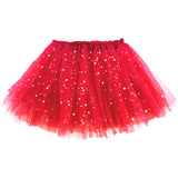 Girls Sparkle Star Layered Princess Ballet Tutu Skirt