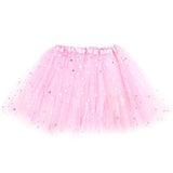 Girls Sparkle Tutu Layered Princess Ballet Skirt Light Pink