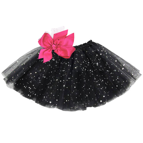 Girls Sparkle Tutu Layered Princess Ballet Skirt Black