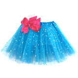 Girls Sparkle Tutu Layered Princess Ballet Skirt Blue