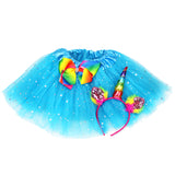Girls Unicorn Costume Set Birthday Tutu and Headband