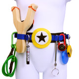 Kids Superhero Utility Tool Belt with Slingshot and Accessories