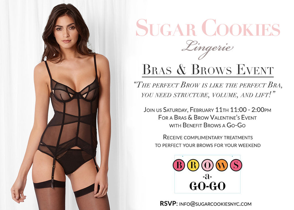 Brows A Go-Go Pop Up at Sugar Cookies Lingerie