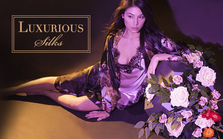 Shop Christine Silk Robes at Sugar Cookies Lingerie