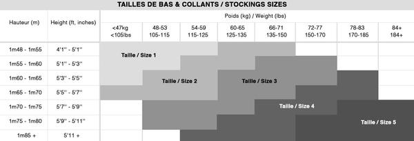 Maison Close Stockings Size Guide