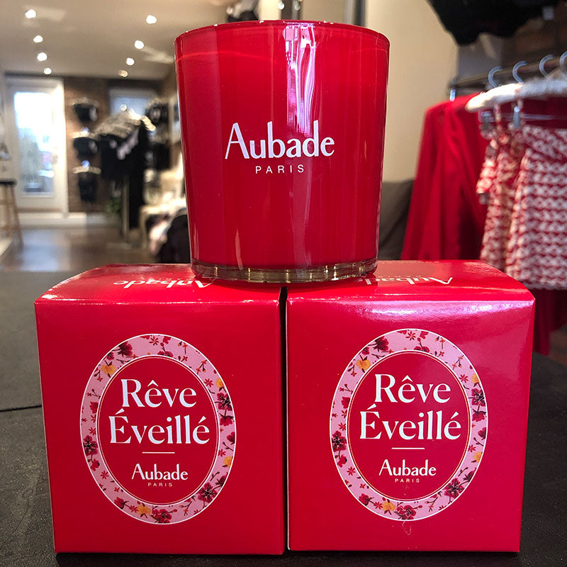 Free Aubade Reve Eveille Candle with the purchase of an Aubade set in store or online.