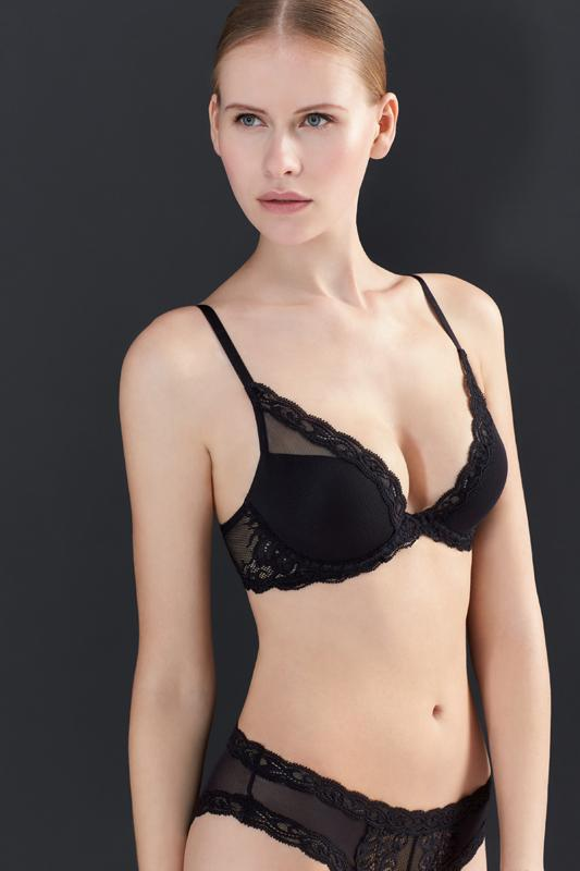 Natori Feathers Plunge Bra - Sugar Cookies Lingerie NYC