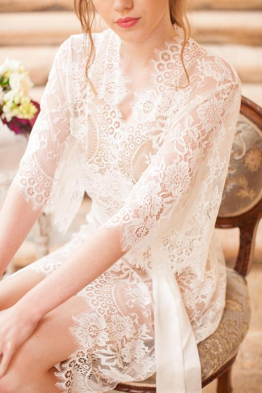 Girl&aSeriousDream Swan Queen Lace Kimono - Sugar Cookies Lingerie NYC