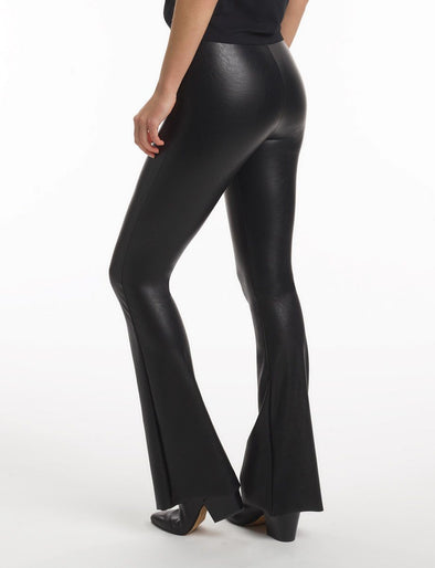 Commando Faux Leather Flared Legging with Perfect Control - Sugar Cookies Lingerie NYC