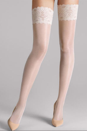 Wolford Satin Touch 20 Stay-Up - Sugar Cookies NYC