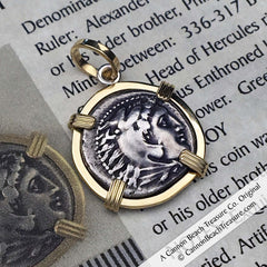 Alexander the Great Drachm Treasure Coin Pendant