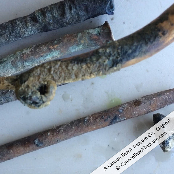 Shipwreck Artifacts Admiral Gardner Bronze Spikes