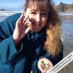 April Knecht Sea Glass Hunting Cannon Beach Sea Glass