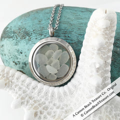 Stainless Steel Sea Glass Lockets