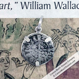Edward I Hand Hammered Silver Penny Pendant