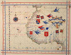 The West Coast of Africa 1500s Portuguese Chart
