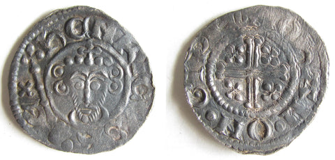 Silver penny of King John, 1205-1207.