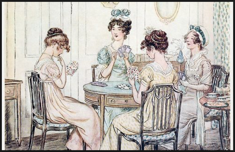 Georgian Regency Women Ladies Playing Card Game