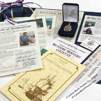 1715 Fleet Shipwreck 4 Reale 18K Necklace with Rare Mel Fisher Hand-Signed Certificate of Authenticity | Artifact #5158