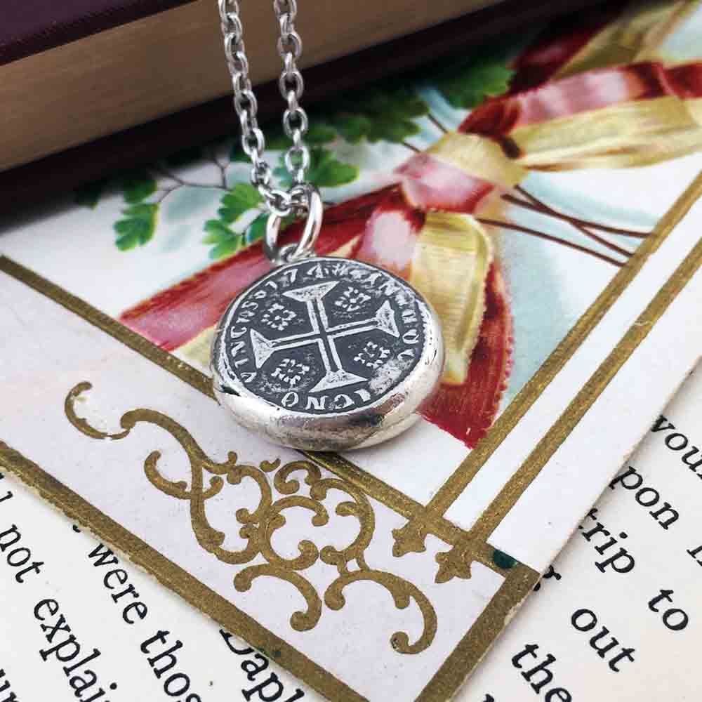 Cross of Christ Fine Silver Wax Seal Pendant