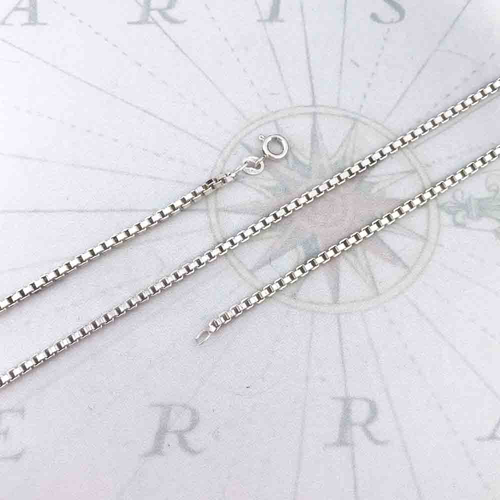 2.4 mm Sterling Silver Box Chain