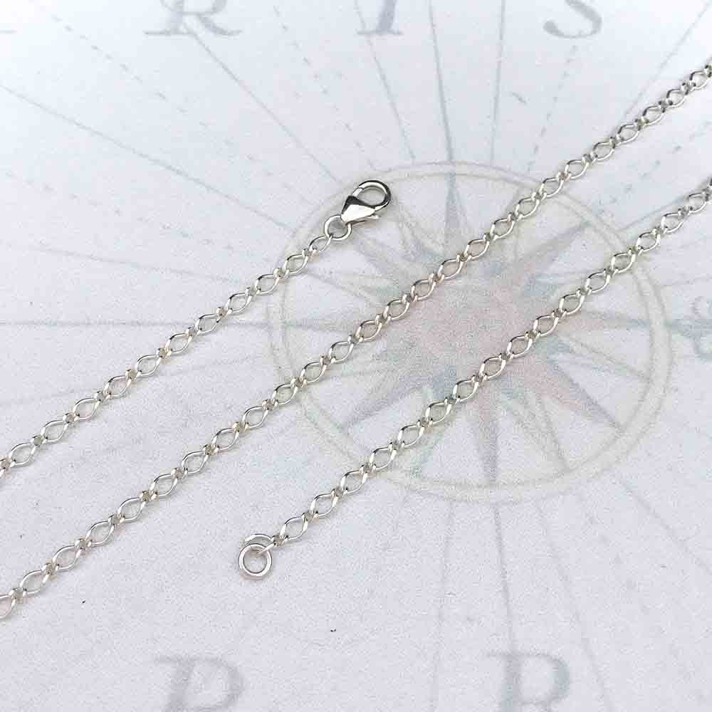 2.8 mm Sterling Silver Bright Long & Short Link Chain | For Women