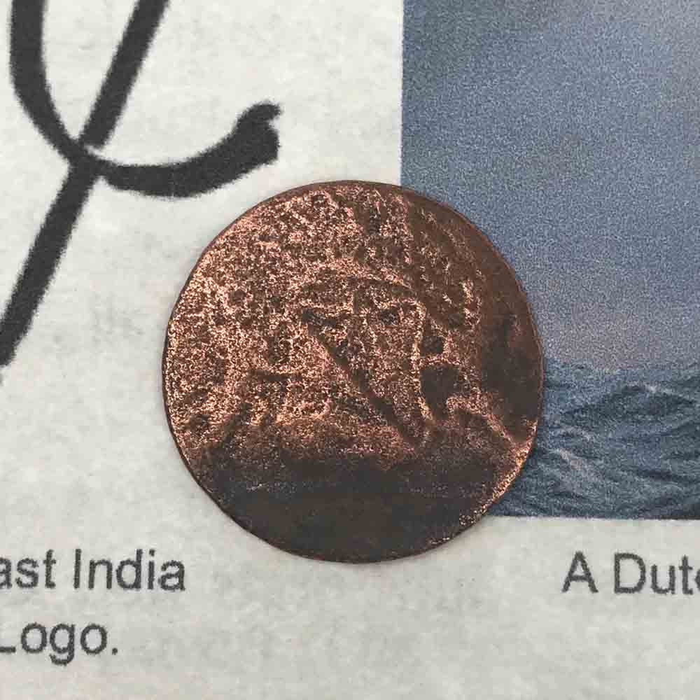 VOC - Dutch East India Company Shipwreck 1 Duit Copper Trade Coin Grade 3