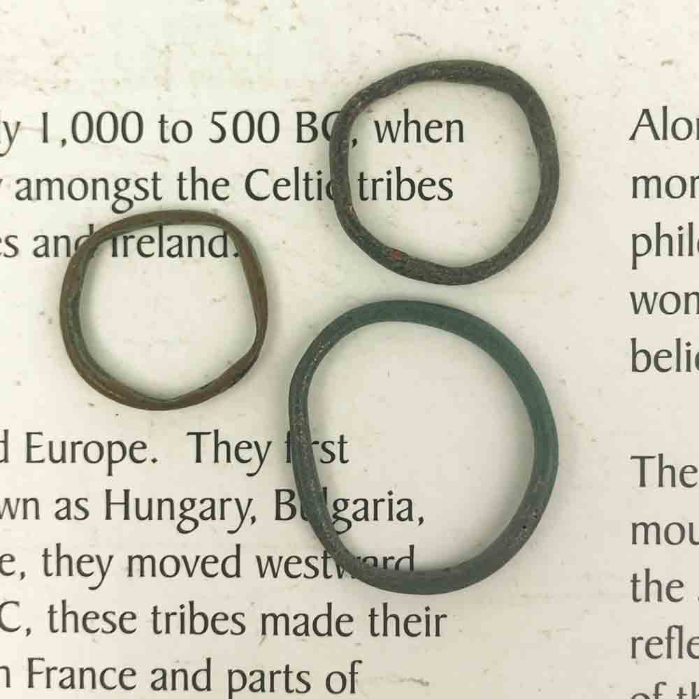 Celtic Ring Money - Ancient Bronze Money Ring circa 50 BC