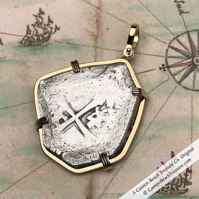 1715 Fleet Shipwreck 8 Reale Piece of Eight 14K Gold Necklace - Mel Fisher Certificate