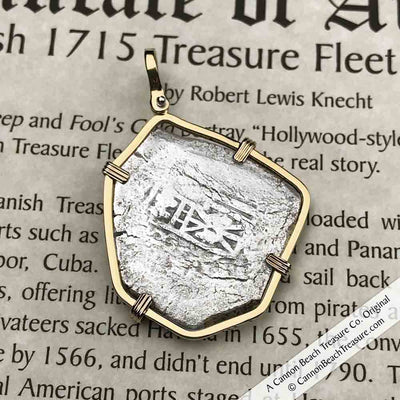 1715 Fleet Shipwreck 8 Reale Piece of Eight 14K Gold Necklace - the Cobb Coin Company Collection | Artifact #3412
