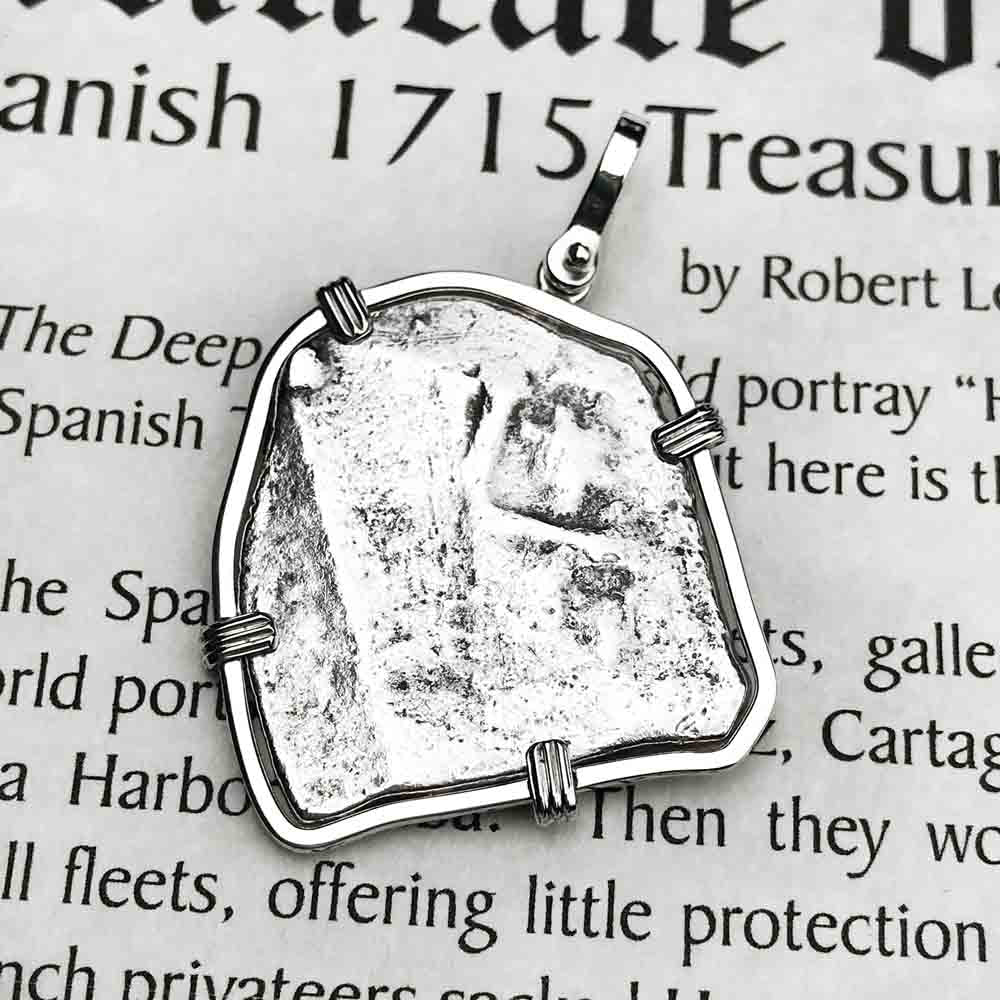 "1715 Fleet Shipwreck Spanish 4 Reale ""Piece of 8"" Sterling Silver Necklace"