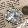 Mel Fisher's Atocha 4 Reale Shipwreck Coin 14K Gold Necklace