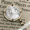 "Spanish 1 Reale Cob Circa 1580  Pirate ""Piece of Eight"" Necklace in 14K Gold 