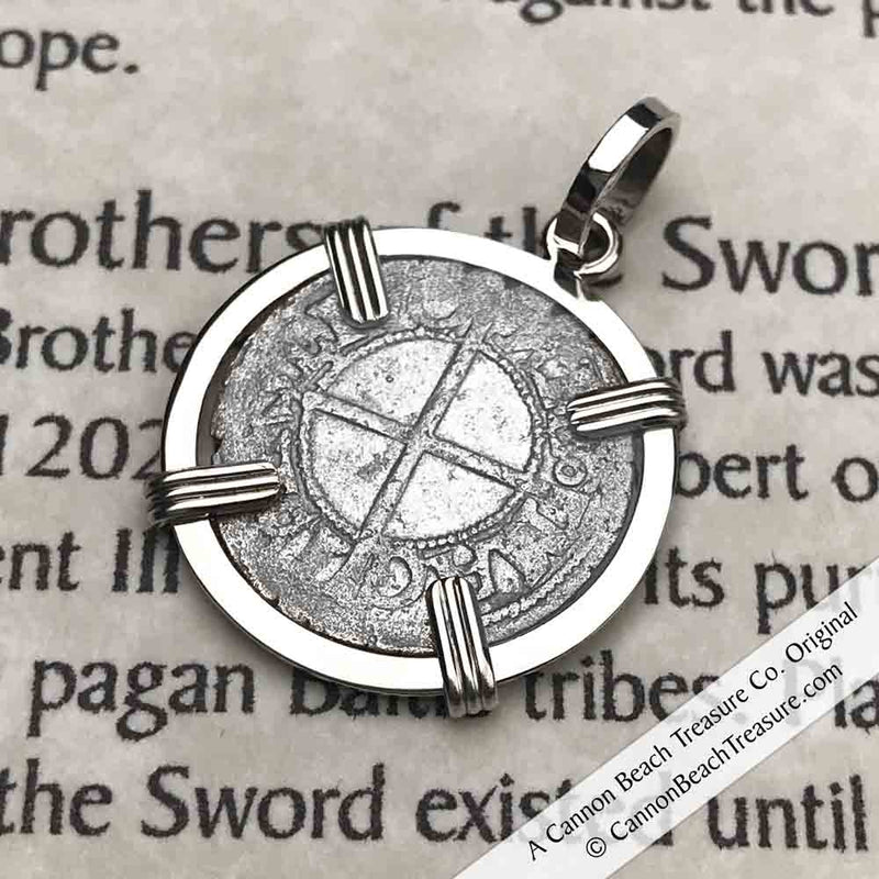 Help, Defend, Heal - Dated 1540 Crusader Coin of the Teutonic Knights Pendant | Artifact #3904