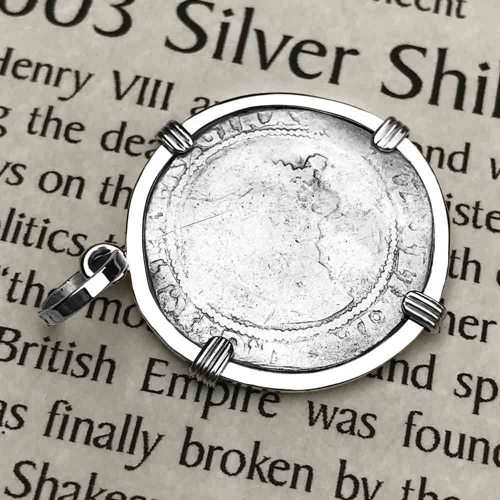 Elizabeth I 1572 Silver Six Pence Sterling Silver Necklace | Artifact #3933