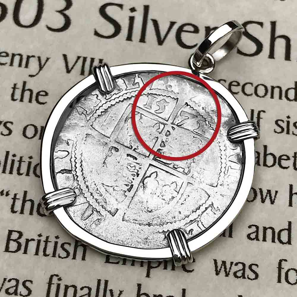 Elizabeth I 1572 Silver Six Pence Sterling Silver Necklace